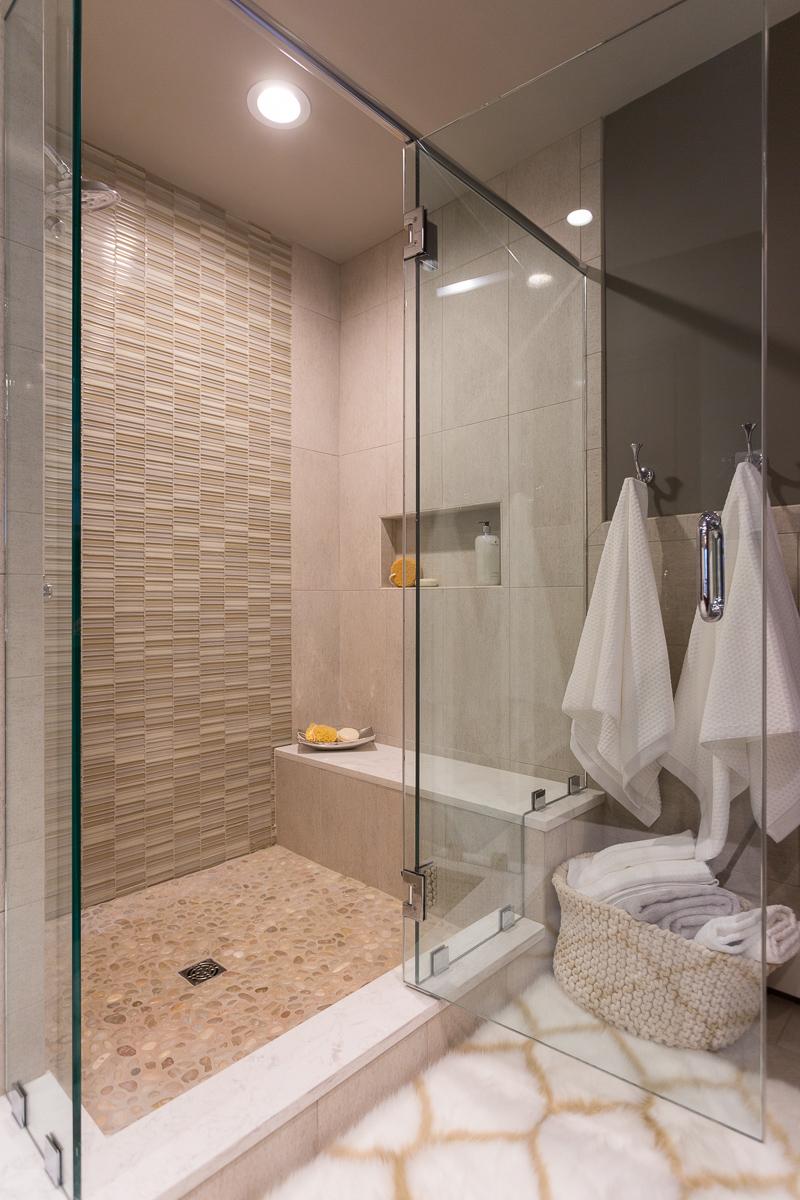 Long pond master bath new england design elements for Long master bathroom designs
