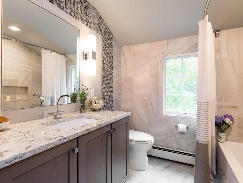 Modern Bath in Boxboro